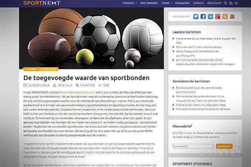 De toegevoegde waarde van sportbonden - Sportnext