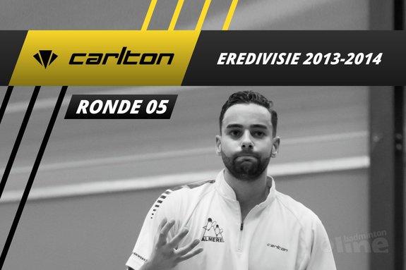Carlton Eredivisie 2013-2014 - speelronde 5 - badmintonline / Alex van Zaanen