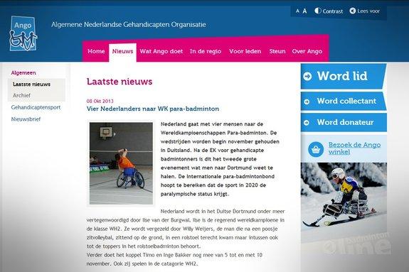 Vier Nederlanders naar WK para-badminton - Ango