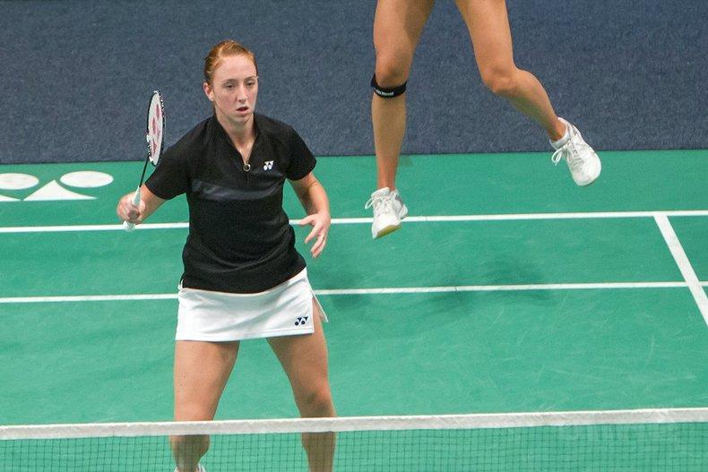 Deze afbeelding hoort bij 'Eefje Muskens en badmintonpartner Piek door naar tweede ronde in Zwitserland' en is gemaakt door Alex van Zaanen