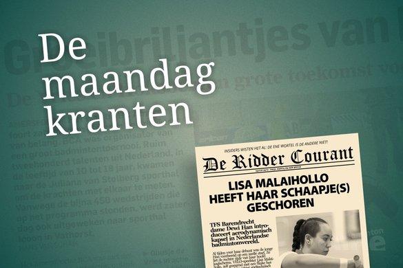 De maandagkranten van 21 oktober 2013 - badmintonline / René Lagerwaard