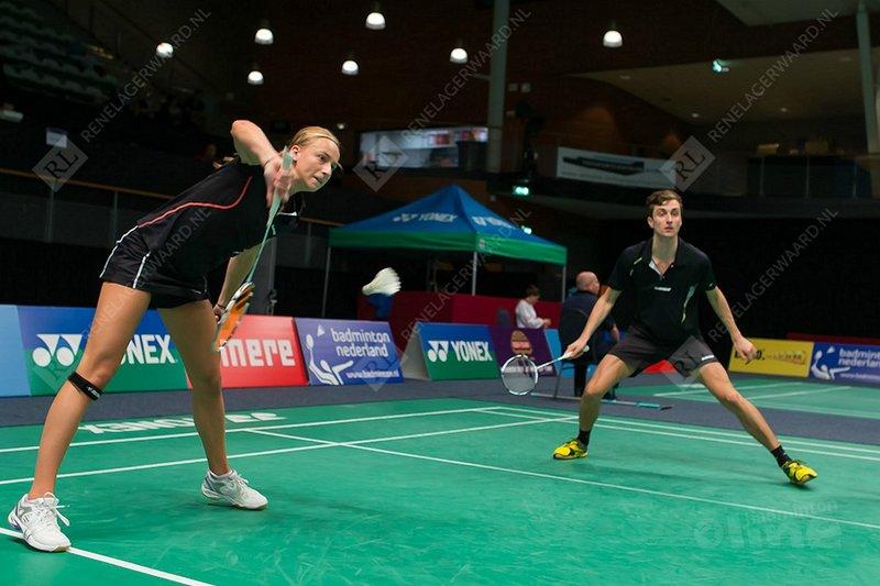 Brons voor Arends en Piek na verlies op EK badminton - René Lagerwaard