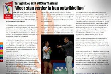 Terugblik op WJK 2013 in Thailand: 'Weer stap verder in hun ontwikkeling'