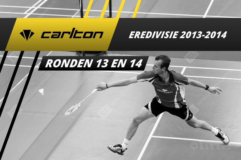 Carlton Eredivisie 2013-2014 - speelronden 13 en 14 - badmintonline / René Lagerwaard