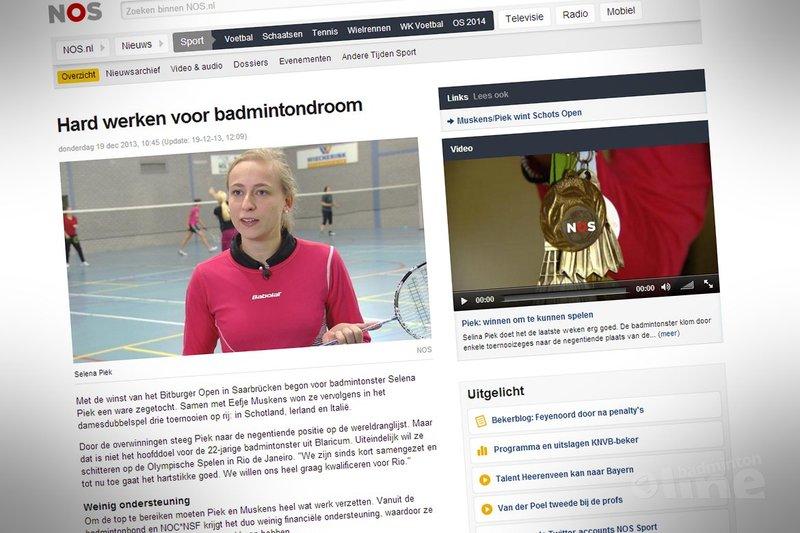 Hard werken voor badmintondroom - NOS