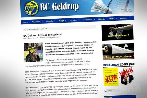 BC Geldrop trots op rolstoelers! - BC Geldrop