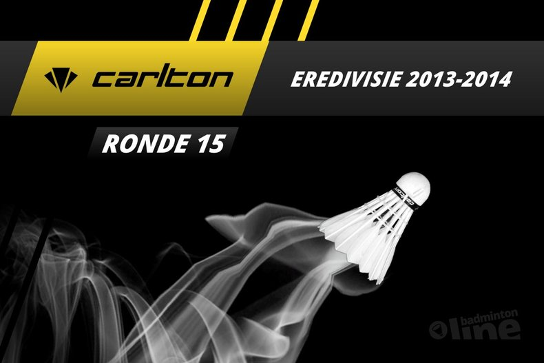 Deze afbeelding hoort bij 'Carlton Eredivisie 2013-2014 - speelronde 15' en is gemaakt door badmintonline / Alex van Zaanen
