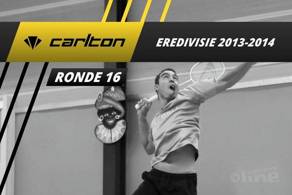 Deze afbeelding hoort bij 'Carlton Eredivisie 2013-2014 - speelronde 16' en is gemaakt door badmintonline / Alex van Zaanen