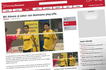 BV Almere al zeker van deelname play-offs