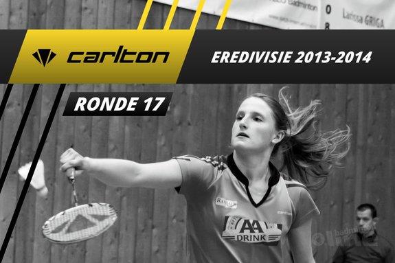 Carlton Eredivisie 2013-2014 - speelronde 17 - badmintonline / Alex van Zaanen