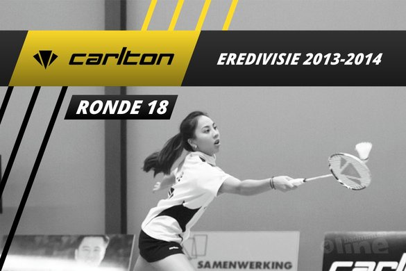 Carlton Eredivisie 2013-2014 - speelronde 18 - badmintonline / Alex van Zaanen