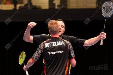Carlton NK 2014: Kruijt en Nottelman bereiken halve finale mannendubbel