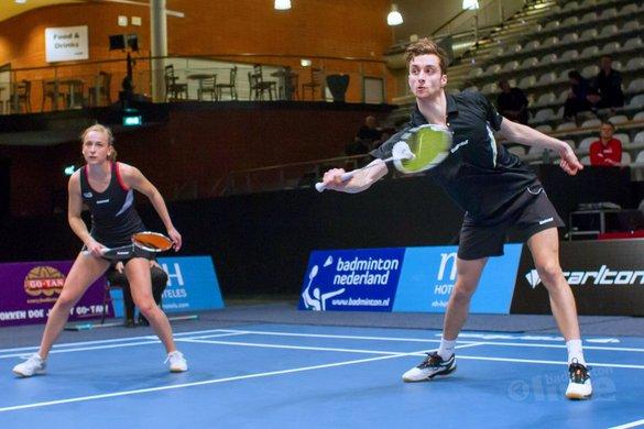 Selena Piek en partner Jacco Arends komen tekort op Swiss Open - Alex van Zaanen