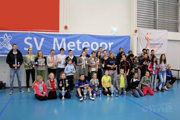 Lekker badmintonnen tijdens het RJK in Regio Noord