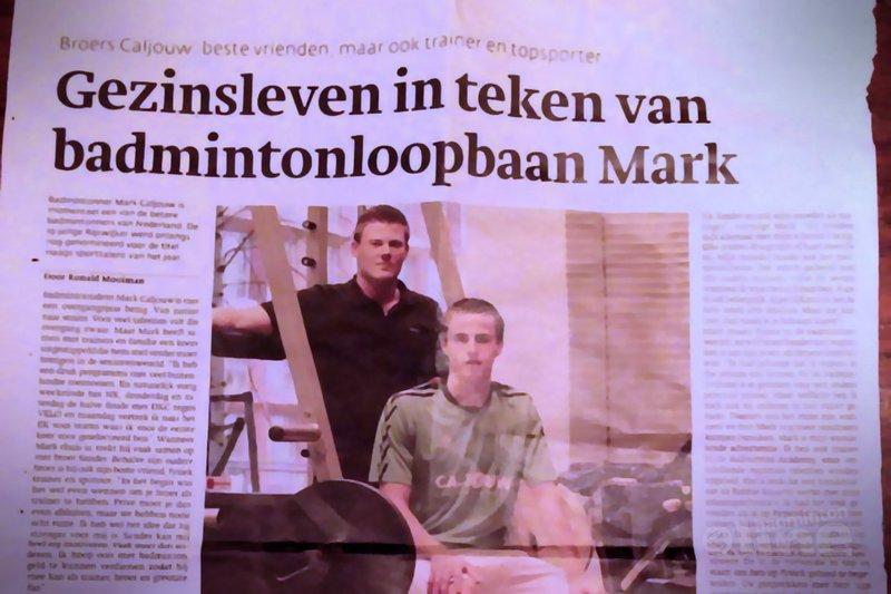 Gezinsleven in teken van badmintonloopbaan Mark Caljouw - Den Haag Centraal