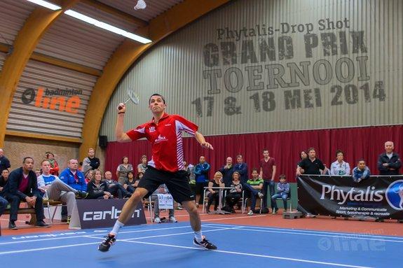 badmintonline mediapartner Phytalis-Drop Shot Grand Prix Toernooi (17 en 18 mei) - René Lagerwaard / badmintonline