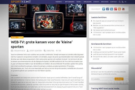 WEB-TV: grote kansen voor de 'kleine' sporten - Sportnext