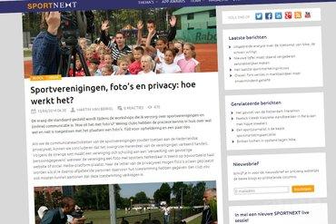 SPORTNEXT: 'Sportverenigingen, foto's en privacy: hoe werkt het?'