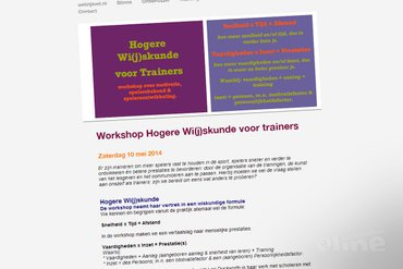 Workshop Hogere Wi(j)skunde voor trainers