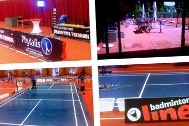 De banen van het Phytalis-Drop Shot Grand Prix toernooi liggen klaar!