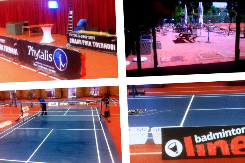 De banen van het Phytalis-Drop Shot Grand Prix toernooi liggen klaar! - Robert Hoogland