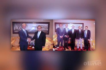 Delegatie Badminton Nederland wordt ontvangen door de Ambassadeur van China