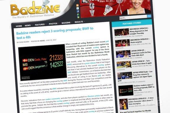 De BWF wil een nieuw scoresysteem gaan testen: 5x11 - Badzine