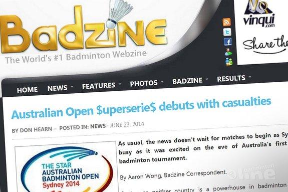 Deze afbeelding hoort bij 'Australian Open $uperserie$ debuts with casualties' en is gemaakt door Badzine