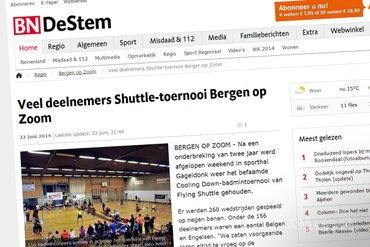 BN/DeStem: 'Veel deelnemers Shuttle-toernooi Bergen op Zoom'