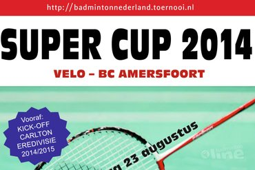 Introductie Super Cup 2014 tijdens Kick-off Carlton Eredivisie 2014-2015 in Wateringen
