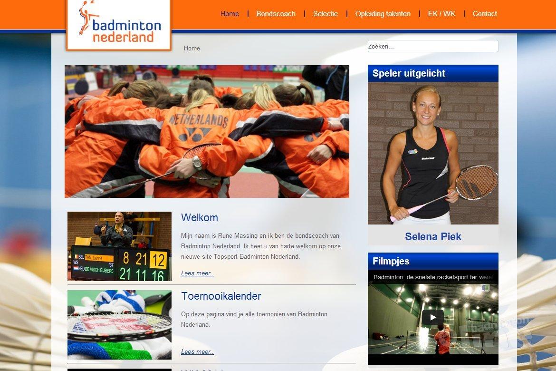 Website voor topbadminton