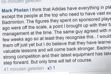 Badminton Europe's own Mark Phelan opiniates on Adidas' future