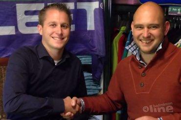 Tielse badmintonclub verwelkomt nieuwe shirtsponsor