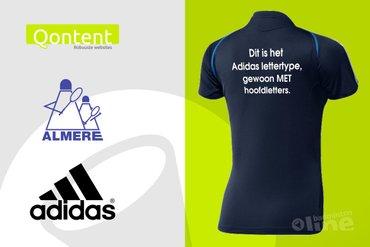 Almere niet Qontent met oordeel LCW over Adidas-lettertype op teamshirts