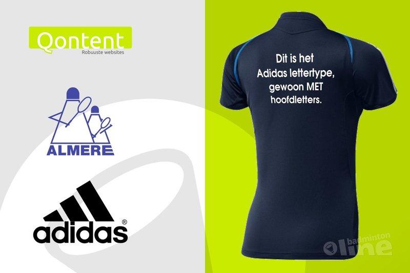 Almere niet Qontent met oordeel LCW over Adidas-lettertype op teamshirts - badmintonline