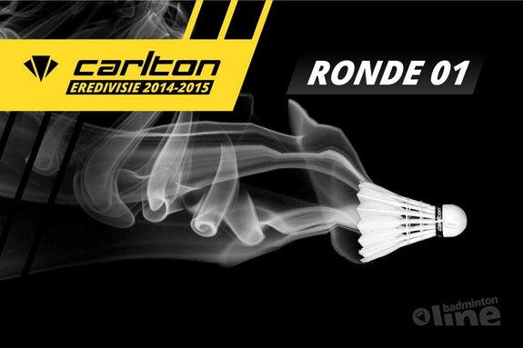 Carlton Eredivisie 2014-2015 - speelronde 1 - badmintonline