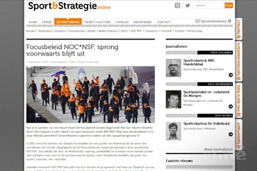 Focusbeleid NOC*NSF: sprong voorwaarts blijft uit
