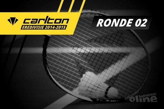 Carlton Eredivisie 2014-2015 - speelronde 2 - badmintonline