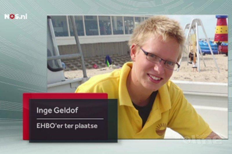 Badmintonster Inge Geldof ooggetuige van kettingbotsing A58 - NOS
