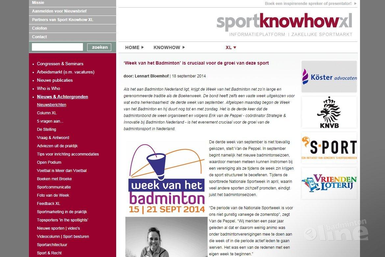 'Week van het Badminton' is cruciaal voor de groei van deze sport