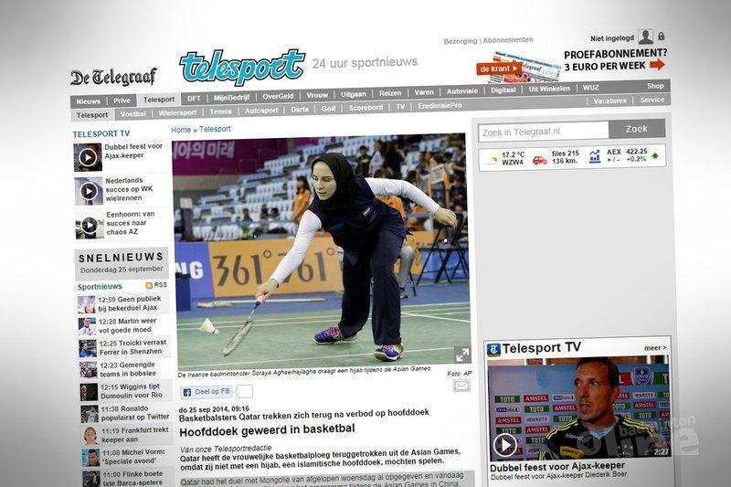 Hoofddoek geweerd in basketbal - De Telegraaf