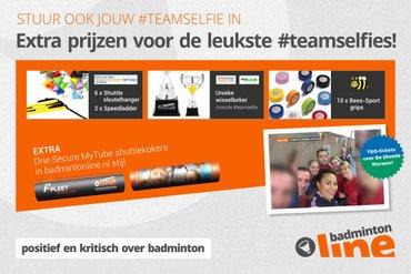 Jürgen Wouters, BadmintonPlanet.nl en BeeS-Sport.nl sluiten zich aan bij #teamselfie-actie