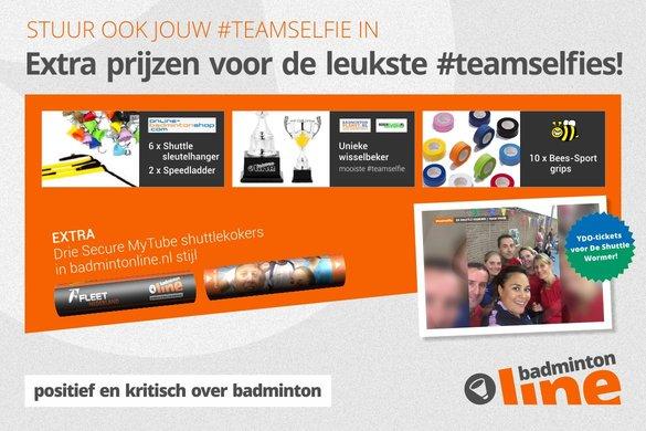 Jürgen Wouters, BadmintonPlanet.nl en BeeS-Sport.nl sluiten zich aan bij #teamselfie-actie - badmintonline.nl