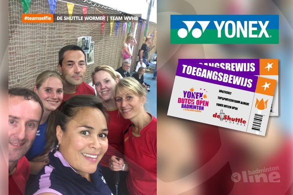 De Shuttle Wormer wint YDO2014-tickets met hun #teamselfie! - badmintonline.nl