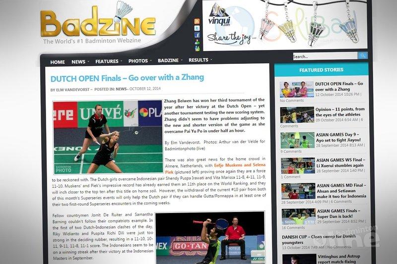 Dutch Open Finals: Go over with a Zhang - Badzine