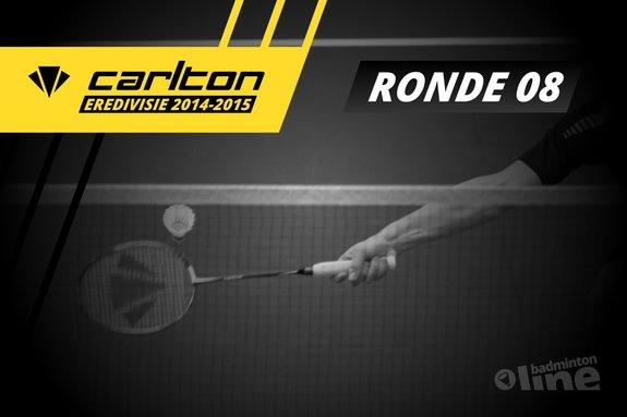 Deze afbeelding hoort bij 'Carlton Eredivisie 2014-2015 - speelronde 8' en is gemaakt door René Lagerwaard / badmintonline