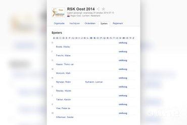 Organisatie RSK Oost gooit alle inschrijvingen toernooi uit