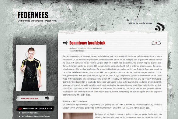 Vlaamse hoogste competitie: Victor League - Peter Nees