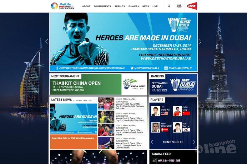 Deze afbeelding hoort bij 'Super New Site for BWF World Superseries' en is gemaakt door BWF