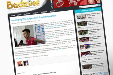 Lee Chong Wei suspended; B sample positive